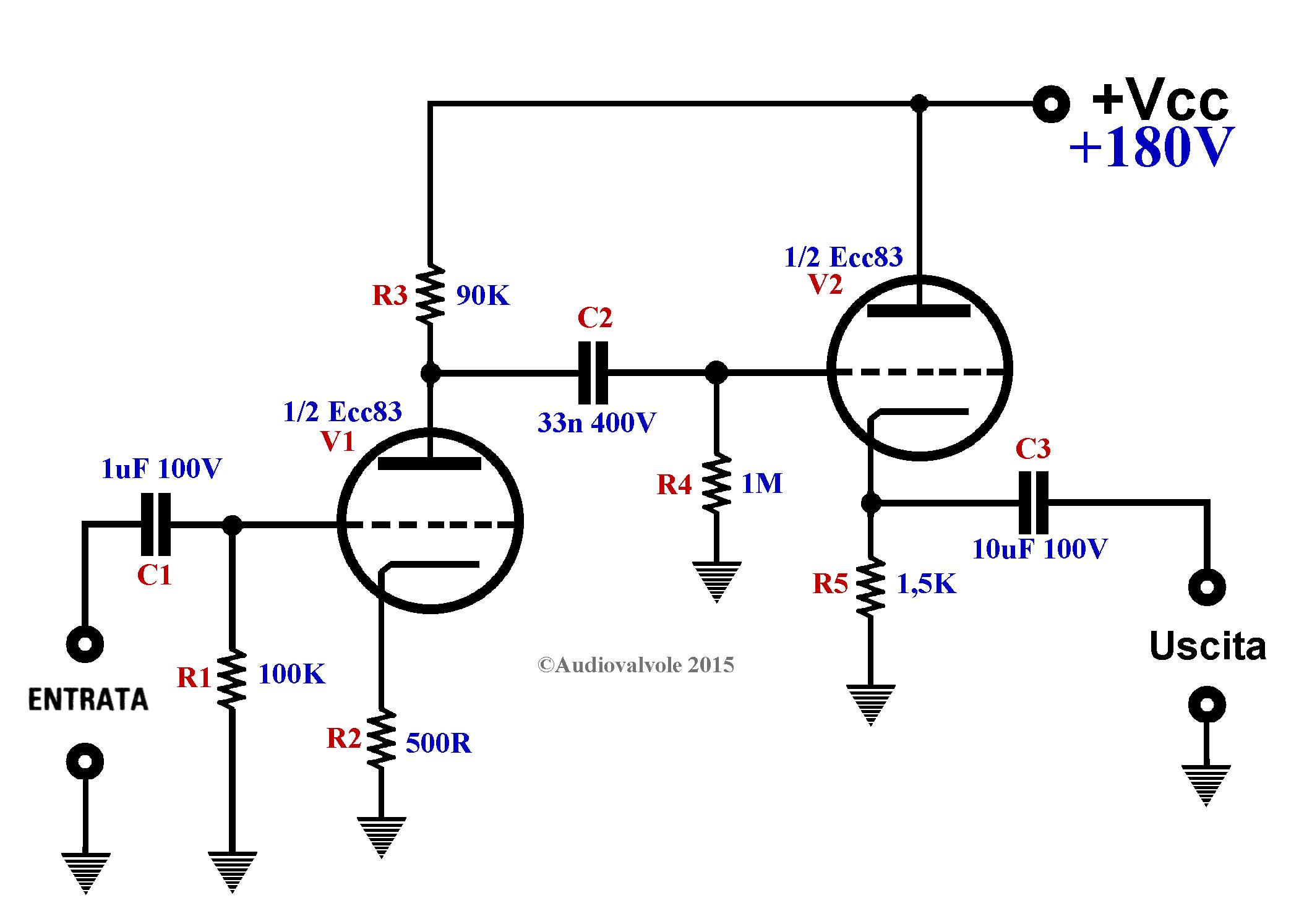 Schema Elettrico Amplificatore Per Basso : Progetto preamplificatore microfonico per microfono dinamico